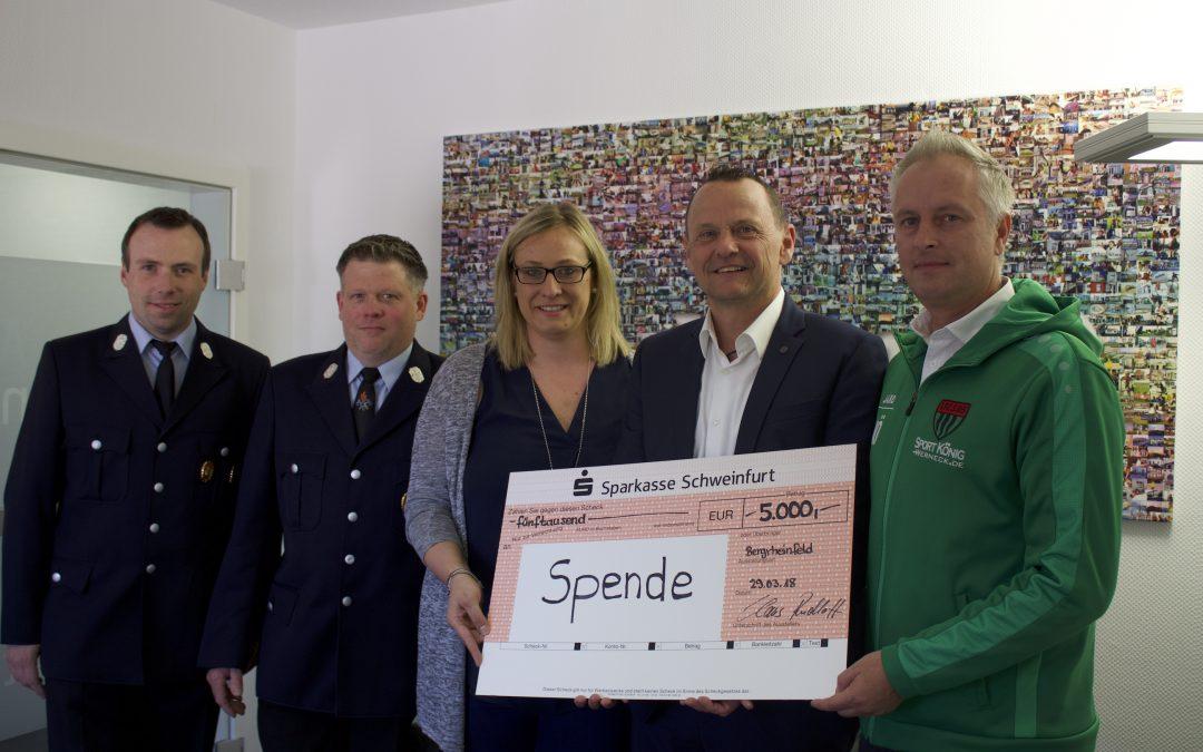 Feuerwehr erhält Spende von Allianzagentur Claus Rudloff