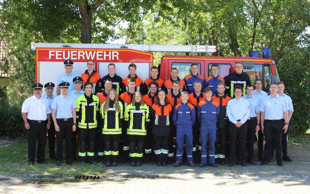 Prüfung zur modularen Truppmannausbildung in Bergrheinfeld